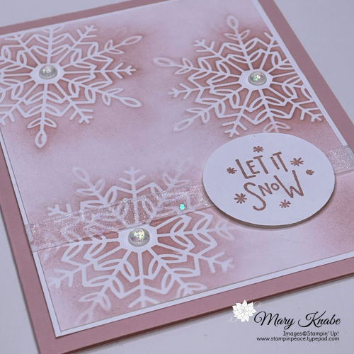 Stampin' Up! Encircled in Warmth & Wonderful Snowflakes - Mary Knabe